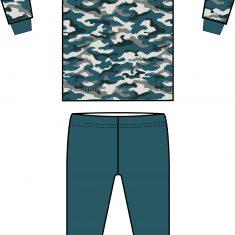 pyjama camouflage 2 Klein formaat